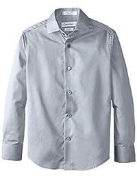 Calvin Klein Big Boys' CK Sateen Hanging Dress Shirt