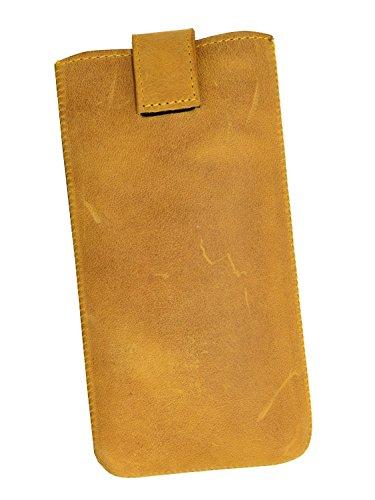 OrLine Premium Echt Leder Case Lederetui für Apple Iphone 7 PLUS 5,5 Schutzhülle | Handytasche | Ledertasche | Hülle | Tasche | Cover | Case Etui Echt Leder Slim Case Tasche mit Klettverschluss und Pu