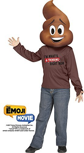 Fun World Men's Med/Poop Jr. Emojimovie Chld Childrens Costume, Multi, Medium