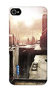 Christmas Gift - Tpu Case Cover For Iphone 5/5s Strong Protect Case - Cityscapes Futuristic Artwork Design