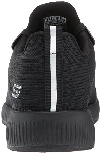 Squad Skechers noir Photo Schwarz Slip Sneaker on Damen Bobs Frame Black qgOx7Zg