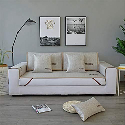 Balalei Summer Sofa Covers Anti-Slip Ice Silk Sofa Mat Slipcovers for Living Room Cool Material Sofa Covers Bamboo Mats Cushion Home,3,60x180cm