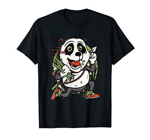 Halloween Zombie Panda Bear T-shirt Costume Kids Mens Gift