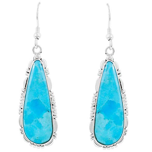 Ring Turquoise Coral Sterling - Turquoise Earrings 925 Sterling Silver & Genuine Turquoise (Choose Color)