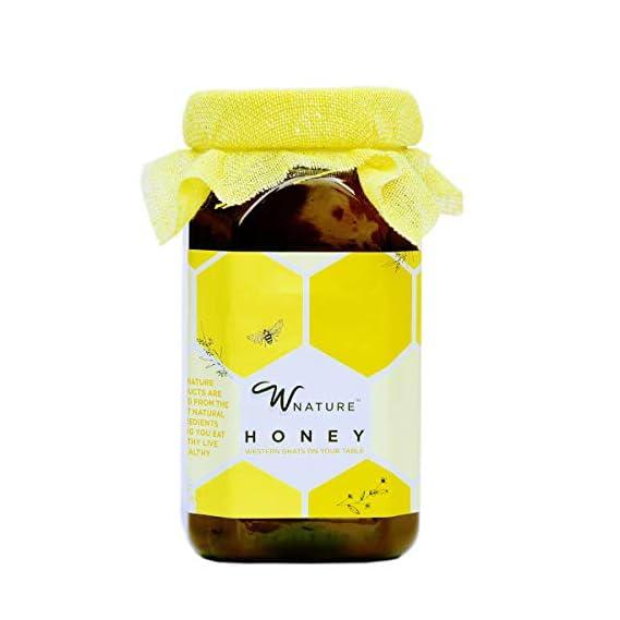 Wnature Organic Wild Raw Honey, 1 Kg - 100% Pure & Natural