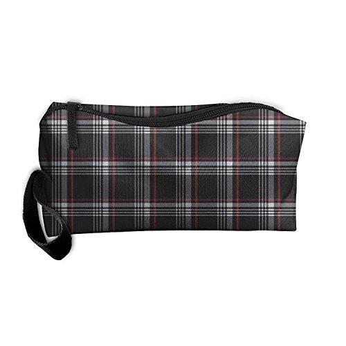 PANGEGE Golf Gti Plaid Zipper Receiving Package Makeup Bag Pencil Pen Case Makeup Bag Set For Unisex ()