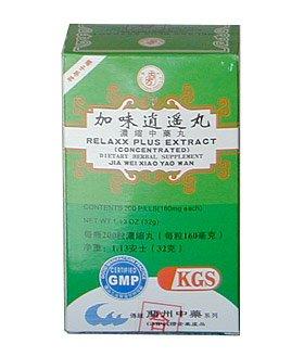 Relaxx PLUS extrait (JIA WEI XIAO YAO WAN) 160mg x 200 comprimés par bouteille