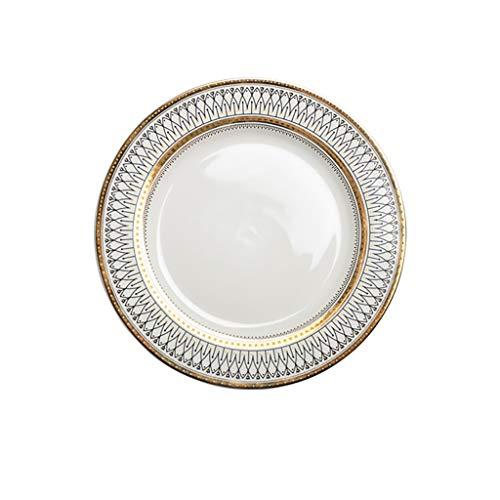 European glass beads point Western plate gold plated ceramic plate steak plate salad plate banquet dessert plate dish plate ceramic dish home dish salad Western dish plate cake plate home ceramic dish