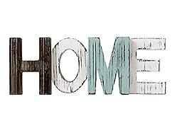 TIMEYARD Rustic Wood Home Sign Decor, De...