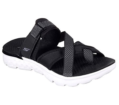 Skechers Performance Damen On The Go 400 Entdecken Flip Flop Schwarz-Weiss