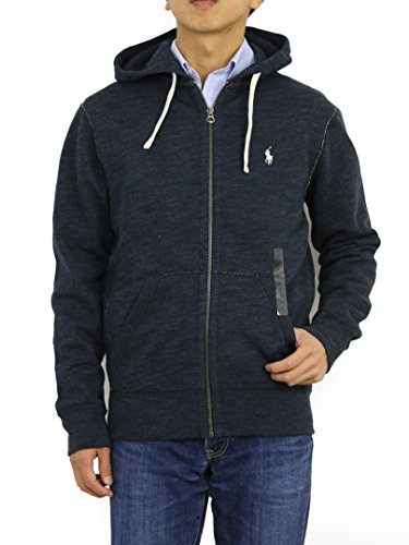 Classic Hooded Fleece Sweater - Polo Ralph Lauren Classic Full-Zip Fleece Hooded Sweatshirt (X-Large, Blue Heather)