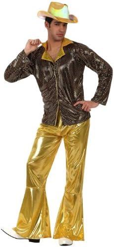 Disfraz de disco dorado para hombre: Amazon.es: Juguetes y juegos