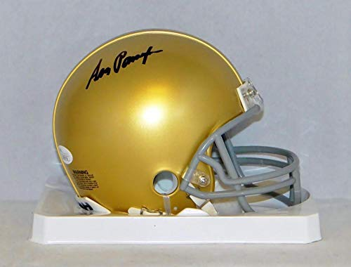 Ara Parseghian Signed Notre Dame Fighting Irish Riddell Mini Helmet- W Auth - JSA Certified - Autographed College Mini Helmets
