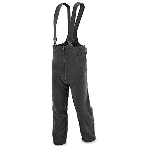 Polartec Military Extreme Cold Weather Fleece Overalls Bibs, Snowpants, Black, X-Large ()