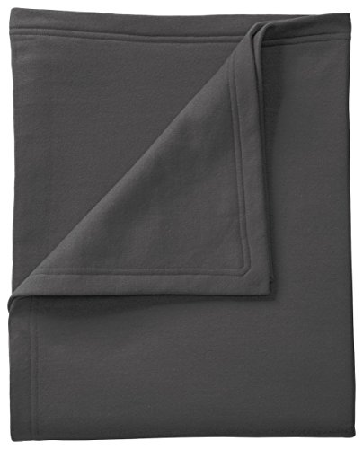 Port & Company BP78 Core Fleece Sweatshirt Blanket, Charcoal