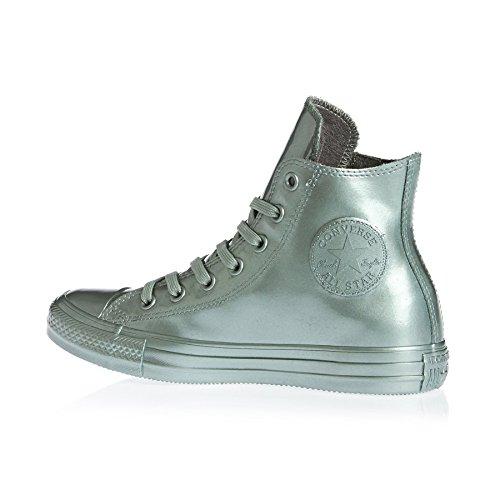 Converse All Star Hi - Zapatillas abotinadas Mujer Plateado