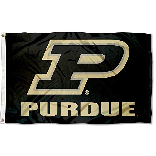 (College Flags and Banners Co. Purdue Boilermakers Slant P Flag)