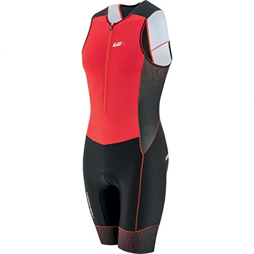 Louis Garneau Men's Pro Carbon Tri Suit (Red, - Mens Tri Suit Piece 2