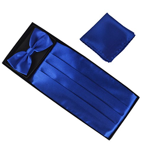 Tie Silk Wedding Blue Cummerbund Set amp; Bow 1 Self Men's Tie q5txHwxTO