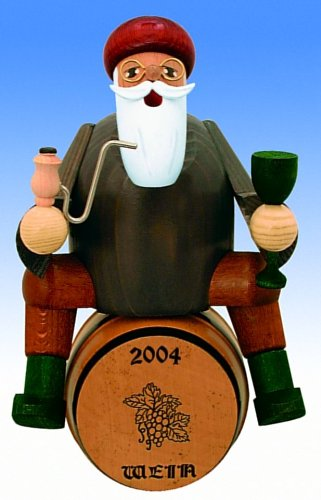 KWO Wine Taster German Christmas Incense Smoker Wine Lover on Barrel Germany New by Pinnacle Peak Trading Company
