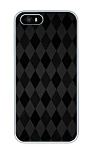 Black Argyle - Personalized Crystal Clear Enamel Hard Back Shell Case Cover Skin for iPhone 4/4S