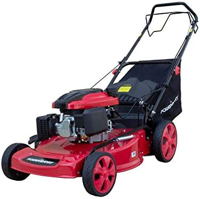 PowerSmart DB8621C Gas Push Mower 3-in-1, Red Black,22 in.