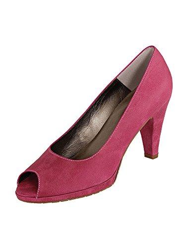 Marion Spath Damen 19-02-11 Glattleder Extravaganter Peep Toe Pumps Pink