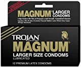 Bundle Package Of Trojan Magnum 12 Pack And a Bottle of 1.7 -oz Personal Silicone Lubricant