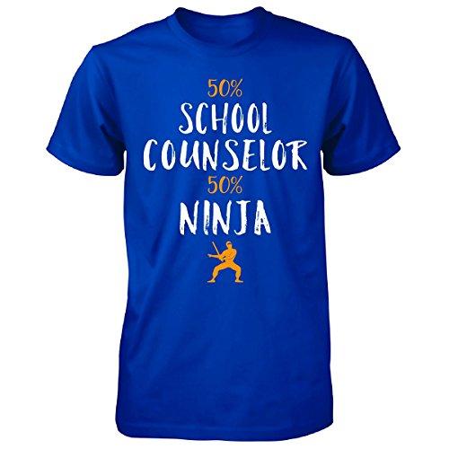50% School Counselor 50% Ninja Awesome Gift - Unisex Tshirt