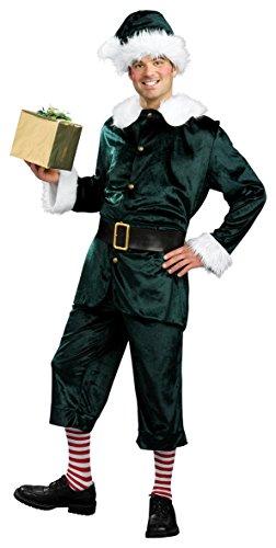 [Rubie's Costume Co Men's Jolly Green Helper Costume, Multi, X-Large] (Jolly Green Santa's Helper Christmas Costumes)