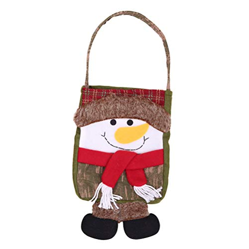 (Creative Christmas Gift Bag Snowman Xmas Party Holiday Cookie Candy Fudge Shopping Plastic Gift Bag )