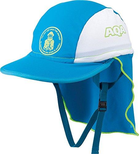 AQA(성취지수 A) 어린이용 스윔 캡 UV컷 모자 UV드라이 플랩 캡 키즈 KW-4468A
