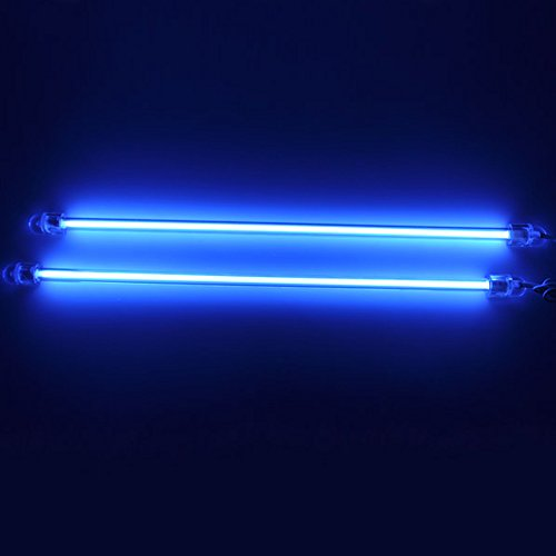 12 Inch Cold Cathode Case - E Support 12 Inch 30cm Car Blue Undercar Underbody Neon Kit Lights CCFL Cold Cathode Pack of 2