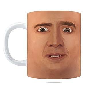Creepy Cage Face Coffee Mug (11oz)