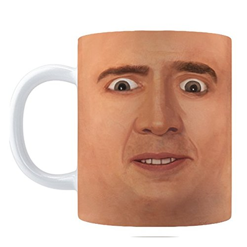Creepy Cage Face Coffee Mug  11Oz