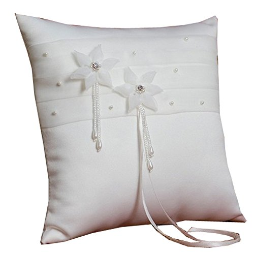 Organza Daisy (Kids Dream Boys White Gerbera Daisies Organza Flower Ring Bearer Pillow)