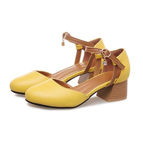 Frauen Prom Heels Sandalen High Mund Heels Schuhe Runder amp;X Flache QIN CXQ Pumps Block qHnv6xtRqw