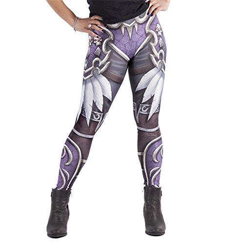 CHAOYIFANG Hot Woman Wow Leggins Sylvanas Windrunner Printed Leggings Sexy Pants AY8 XL