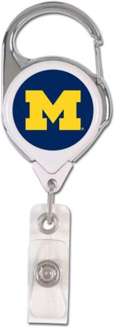 Michigan Wolverines 1 Charcoal Lanyard and 1 Premium Badge Reel WinCraft Bundle 2 Items