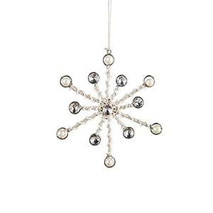 Diamond Pearl Snowflake Ornament