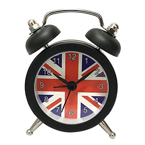PASATO 5 inch Round Alarm Clock Portable Cute