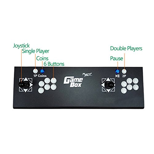 PinPle Arcade Game Console Pandora's Box 4S 615 in 1 Video Games Kit Classic Arcade Game Machine with HDMI & VGA Output for King Of Fighters by PinPle (Image #3)