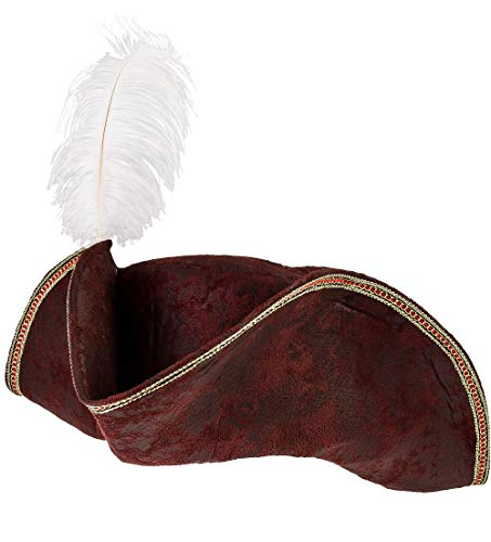 AMSCAN Brown Tricorn Pirate Hat Halloween Costume Accessories, One Size]()