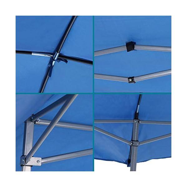 41mCTbOT7sL Gutgojo Pavillon 2.4×2.4m Faltzelt Sonnenschutz Wasserdicht Gartenzelt Sehr Einfache Montage, Wasser Nicht Leicht…