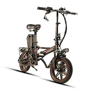 """41mCTkPLIzL. SS300 SHIJING Lega Samebike Pieghevole in Alluminio elettronico Biciclette 48V8AH Elettrico Pieghevole Bike 14"""" * 1.95"""" Gomme Display LCD Bike"""