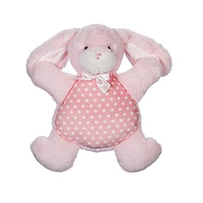 B. Boutique 7PLSH440 My Little Bunny Rattle Cozy, Pink: Toys & Games