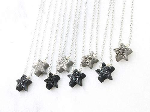 Best friend set of 2- bestfriends are like stars, druzy necklace set of 2 stars, set of 2 necklaces