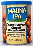 Mauna Loa Macadamia Nuts Kona Coffee Glaze 6 Cans With Bonus Tropical Tea