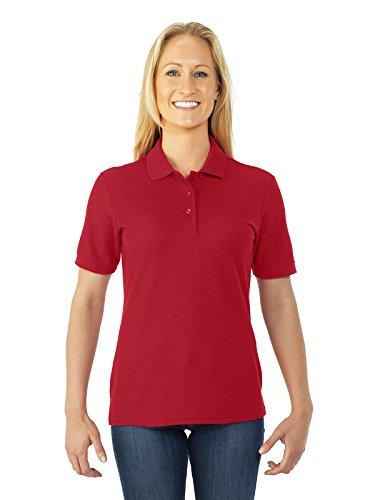 Jerzees womens 5.3 oz. 65/35 Easy-Care Polo(537WR)-TRUE (Easy Care Pique Polo)