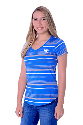 UG Apparel NCAA Kentucky Wildcats Women's Tailgate Tee, Royal Blue/Grey, X-Large
